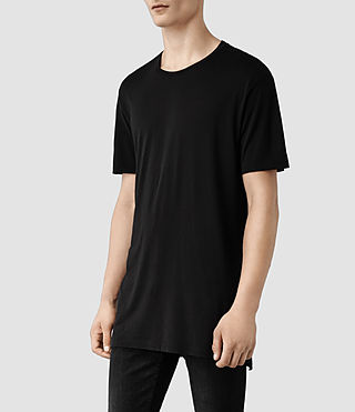 Hombre Tower Crew T-Shirt (Black) - product_image_alt_text_2