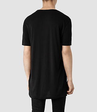 Hombre Tower Crew T-Shirt (Black) - product_image_alt_text_3