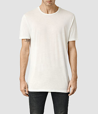 Mens Tower Crew T-Shirt (Chalk) - product_image_alt_text_1