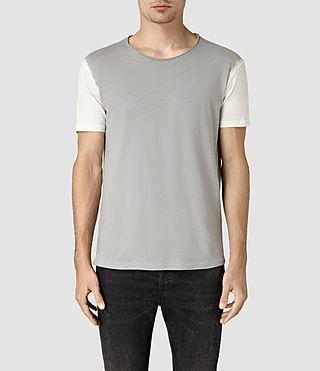 Uomo Auster Crew T-Shirt (CHLK WHT/MOUL BLUE)