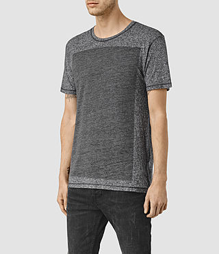 Hommes Bric Crew T-Shirt (Charcoal/Black) - product_image_alt_text_2