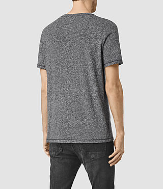 Hommes Bric Crew T-Shirt (Charcoal/Black) - product_image_alt_text_3