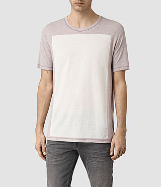 Men's Bric Crew T-Shirt (Ash Grey/Chlk Wht)