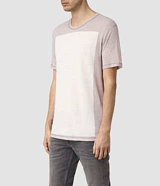 Hombres Bric Crew T-Shirt (Ash Grey/Chlk Wht) - product_image_alt_text_2