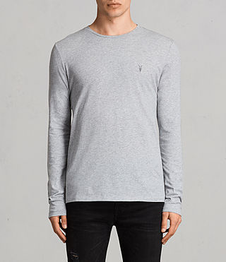 Hombres Tonic Long Sleeve Crew T-shirt (Grey Marl)