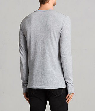 Mens Tonic Long Sleeve Crew T-shirt (Grey Marl) - Image 4
