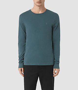 Hombres Tonic Long Sleeve Crew T-Shirt (Airforce Blue)