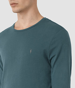 Uomo Tonic Long Sleeve Crew T-Shirt (Airforce Blue) - product_image_alt_text_2