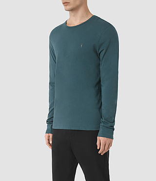 Uomo Tonic Long Sleeve Crew T-Shirt (Airforce Blue) - product_image_alt_text_3