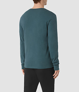 Uomo Tonic Long Sleeve Crew T-Shirt (Airforce Blue) - product_image_alt_text_4