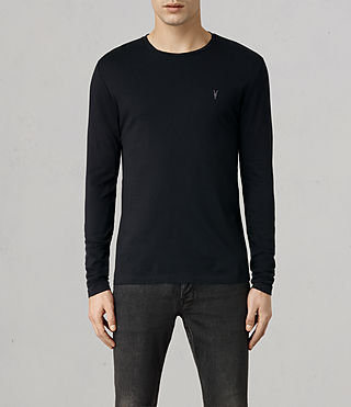 Hombre Tonic Long Sleeved Crew T-shirt (Ink) - product_image_alt_text_1