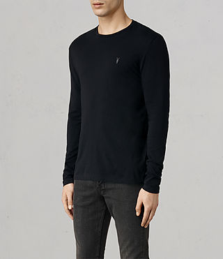 Hombres Tonic Long Sleeved Crew T-shirt (Ink) - product_image_alt_text_2