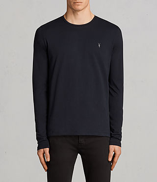 Hombre Tonic Long Sleeved Crew T-shirt (INK NAVY) - product_image_alt_text_1