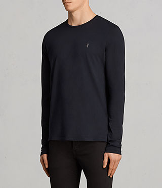 Mens Tonic Long Sleeve Crew T-shirt (INK NAVY) - product_image_alt_text_3