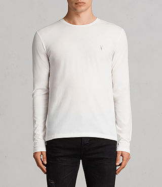 Men's Tonic Long Sleeve Crew T-Shirt (Chalk White) - product_image_alt_text_1
