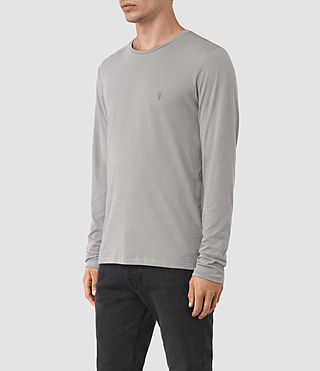 Herren Tonic Long Sleeve Crew T-shirt (LUNAR GREY) - product_image_alt_text_2