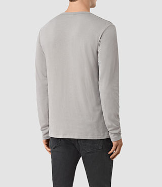 Herren Tonic Long Sleeve Crew T-shirt (LUNAR GREY) - product_image_alt_text_3