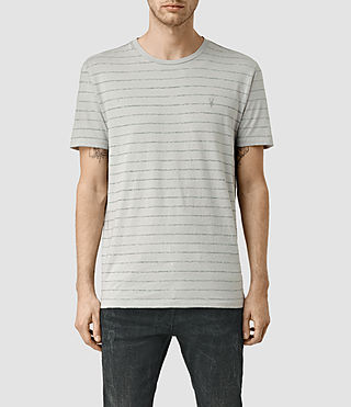 Hombres Drift Tonic Crew T-Shirt (MrgBlue/GryMouline) -