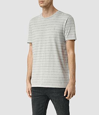 Hombres Drift Tonic Crew T-Shirt (MrgBlue/GryMouline) - product_image_alt_text_3