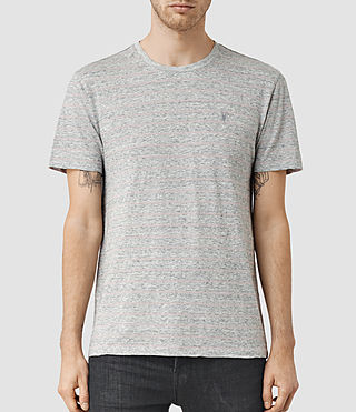 Hombres Drift Tonic Crew T-Shirt (Grey M/Sphinx Pink)