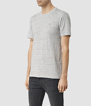 Uomo Drift Tonic Crew T-Shirt (Grey M/Sphinx Pink) - product_image_alt_text_3