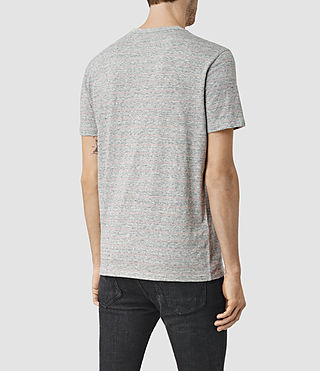 Uomo Drift Tonic Crew T-Shirt (Grey M/Sphinx Pink) - product_image_alt_text_4