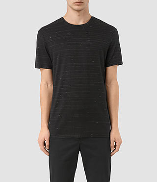 Mens Rawson Crew T-Shirt (BLACK/CHALK) - product_image_alt_text_1