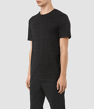 Mens Rawson Crew T-Shirt (BLACK/CHALK) - product_image_alt_text_2
