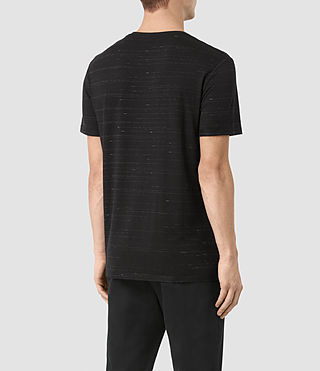Mens Rawson Crew T-Shirt (BLACK/CHALK) - product_image_alt_text_3