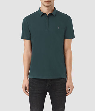 Mens Brace Polo Shirt (Petrol Blue) - product_image_alt_text_1