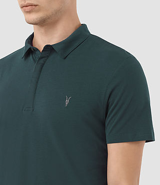 Mens Brace Polo Shirt (Petrol Blue) - product_image_alt_text_2