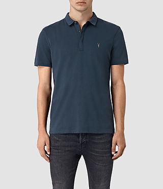 Hombres Brace Polo Shirt (Workers Blue)