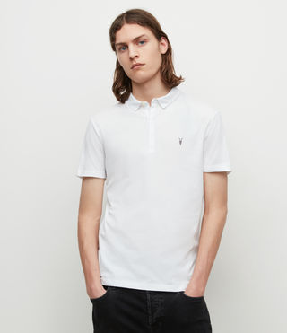 Herren Brace Polo Shirt (Optic White) -