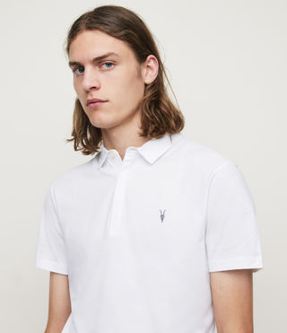 Mens Brace Polo Shirt (Optic White) - Image 2