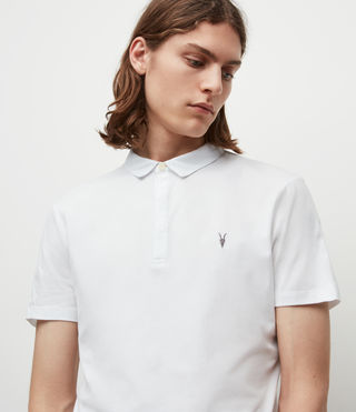 Men's Brace Polo Shirt (Optic White) - product_image_alt_text_2