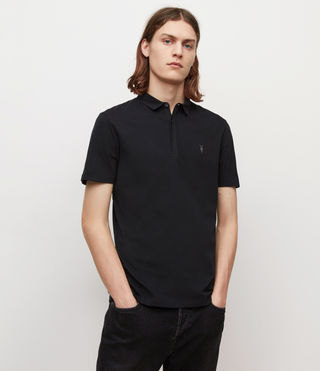 Mens Brace Polo Shirt (Jet Black) - product_image_alt_text_1