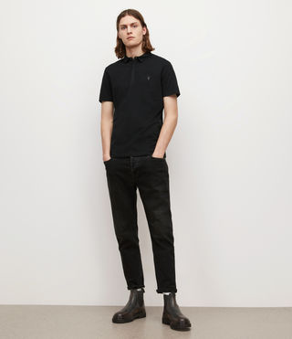Men's Brace Polo Shirt (Jet Black) - product_image_alt_text_3