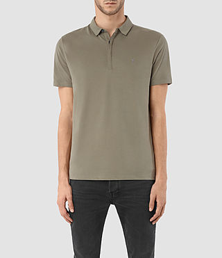 Hombres Brace Polo Shirt (QUARRY GREY)