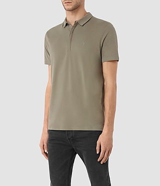 Hombres Brace Polo Shirt (QUARRY GREY) - product_image_alt_text_2