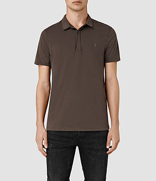 Hombres Brace Polo Shirt (Pewter Brown)