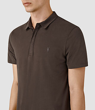 Uomo Brace Polo Shirt (Pewter Brown) - product_image_alt_text_2