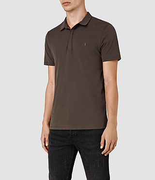 Uomo Brace Polo Shirt (Pewter Brown) - product_image_alt_text_3