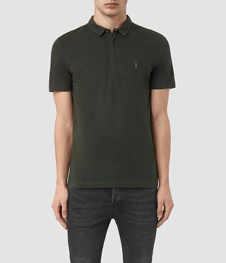 Hombres Brace Polo Shirt (Shadow Green)