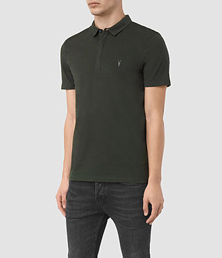 Hommes Brace Polo Shirt (Shadow Green) - product_image_alt_text_2