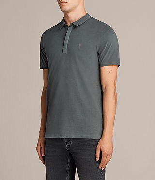 Hommes Brace Ss Polo (FLINT GREEN) - product_image_alt_text_3