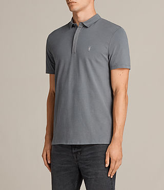 Mens Brace Polo Shirt (ARTILLERY BLUE) - product_image_alt_text_3