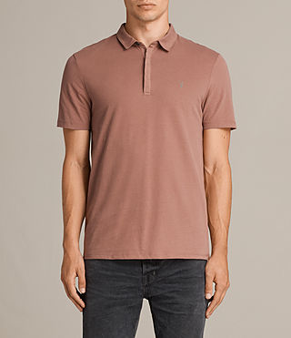 Mens Brace Polo Shirt (TREACLE RED) - Image 1