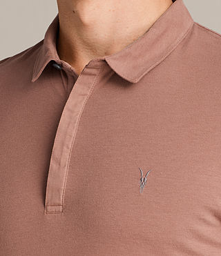 Mens Brace Polo Shirt (TREACLE RED) - Image 2