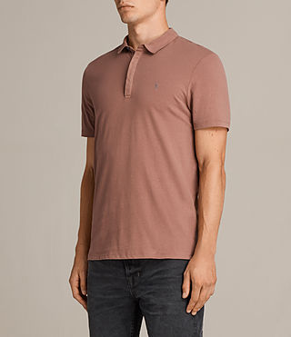 Mens Brace Polo Shirt (TREACLE RED) - Image 3
