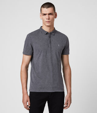 Mens Brace Polo Shirt (Charcoal Marl) - product_image_alt_text_1